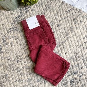 Gap boys burgundy corduroy pants